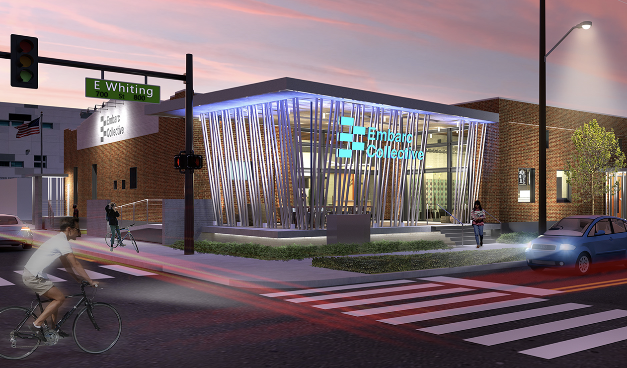 Rendering of Embarc Collective entrance