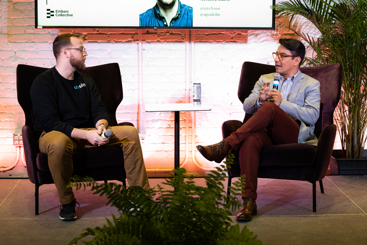 Jay Clouse of upside interviewing CEO of Drift, Elias Torres